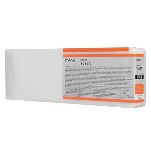 Картридж струйный для плоттера EPSON (C13T636A00) Stylus Pro 7900 и другие, оранжевый, оригинальный, увеличенной емкости, 700 мл
