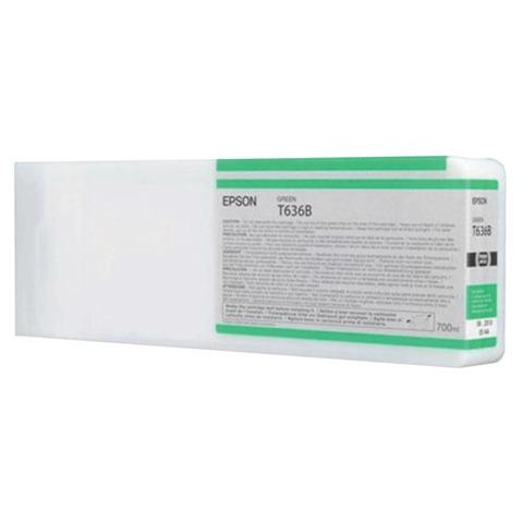 Картридж струйный для плоттера EPSON (C13T636B00) Stylus Pro 7900 и другие, зеленый, оригинальный, увеличенной емкости, 700 мл