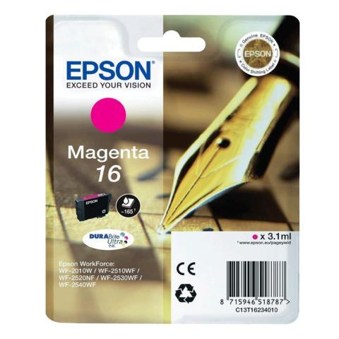 Картридж струйный EPSON (C13T16234010) WorkForce WF-2010W, пурпурный, оригинальный