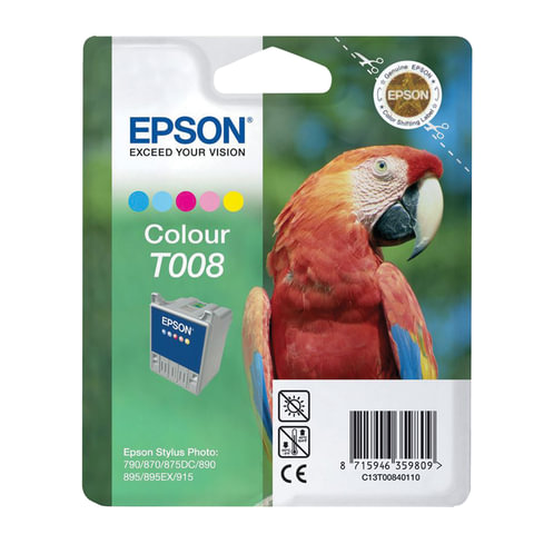 Картридж струйный EPSON (C13T00840110) Stylus Photo 790/890/915 и другие, цветной, оригинальный