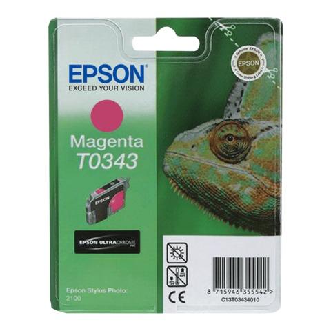 Картридж струйный EPSON (C13T03434010) Stylus Photo 2100, пурпурный, оригинальный