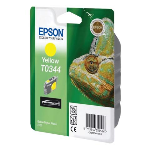 Картридж струйный EPSON (C13T03444010) Stylus Photo 2100, желтый, оригинальный