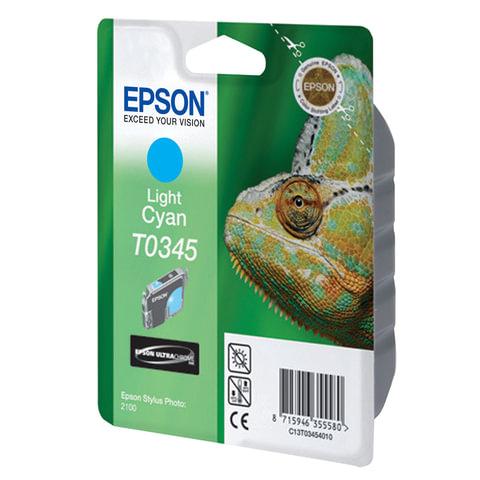 Картридж струйный EPSON (C13T03454010) Stylus Photo 2100, светло-голубой, оригинальный