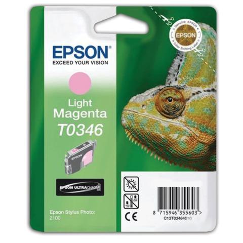 Картридж струйный EPSON (C13T03464010) Stylus Photo 2100, светло-пурпурный, оригинальный