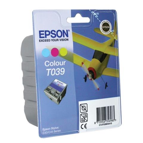 Картридж струйный EPSON (C13T03904A10) Stylus C43/C45, цветной, оригинальный