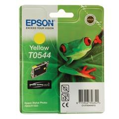 Картридж струйный EPSON (C13T05444010) Stylus Photo R800/<wbr/>R1800, желтый, оригинальный