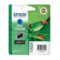 Картридж струйный EPSON (C13T05494010) Stylus Photo R800/<wbr/>R1800, синий, оригинальный