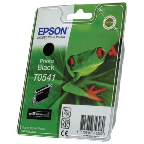 Картридж струйный EPSON (C13T05414010) Stylus Photo R800/R1800, черный фото, оригинальный