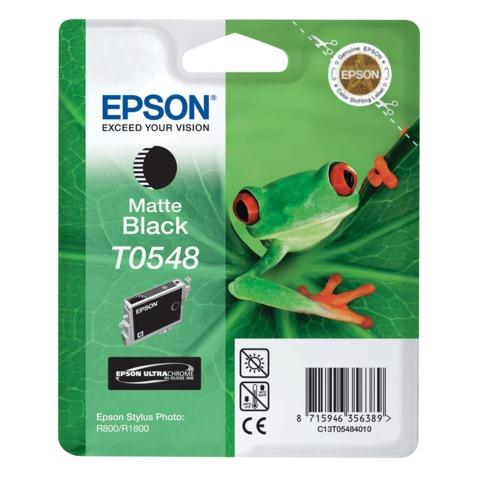 Картридж струйный EPSON (C13T05484010) Stylus Photo R800/<wbr/>R1800, черный матовый, оригинальный