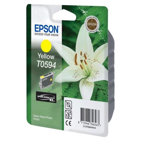 Картридж струйный EPSON (C13T05944010) Stylus Photo R2400, желтый, оригинальный