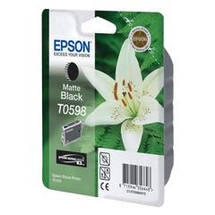 Картридж струйный EPSON (C13T05984010) Stylus Photo R2400, черный матовый, оригинальный