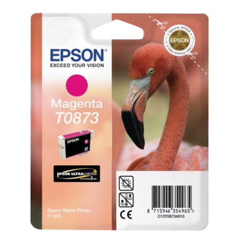 Картридж струйный EPSON (C13T08734010) Stylus Photo R1900, пурпурный, оригинальный