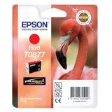 Картридж струйный EPSON (C13T08774010) Stylus Photo R1900, красный, оригинальный