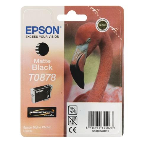 Картридж струйный EPSON (C13T08784010) Stylus Photo R1900, черный матовый, оригинальный