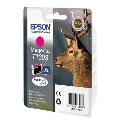 Картридж струйный EPSON (C13T13034012) Stylus SX525WD/620FW/OfficeBX320FW/525WD и другие, пурпурный, XL, оригинальный