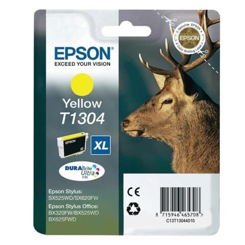 Картридж струйный EPSON (C13T13044010) Stylus SX525WD/<wbr/>620FW/<wbr/>OfficeBX320FW/<wbr/>525WD и другие, желтый, XL, оригинальный