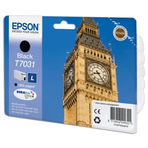 Картридж струйный EPSON (C13T70314010 ) WP-4015/4025/4095/4515/4525/4535/4545/4595, черный, оригинальный