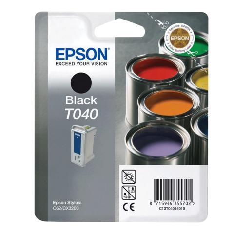 Картридж струйный EPSON (C13T04014010) Stylus C62/<wbr/>CX3200, черный, оригинальный