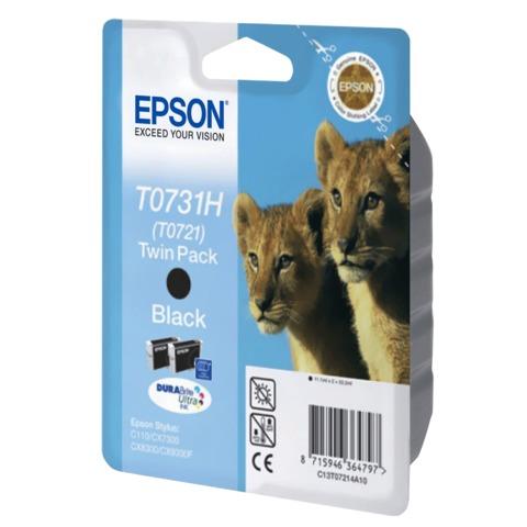 Картридж струйный EPSON (C13T10414A10) Stylus C110/<wbr/>CX7300 и другие, черный, увеличенной емкости, комплект 2 шт., оригинальный