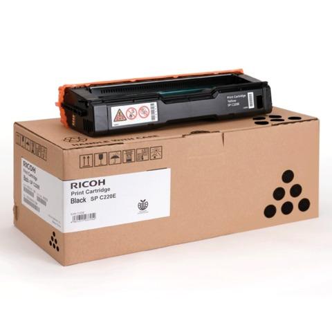 Картридж лазерный RICOH (407642) SPС220S/C221SF и другие, черный, оригинальный, ресурс 2000 стр.
