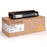 Картридж лазерный RICOH (407643) SPС220S/<wbr/>C221SF и другие, желтый, оригинальный, ресурс 2000 стр.