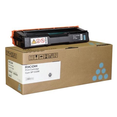 Картридж лазерный RICOH (407645) SPС220S/<wbr/>C221SF и другие, голубой, оригинальный, ресурс 2000 стр.