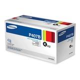 Картридж лазерный SAMSUNG (CLT-P407B) CLP-320/<wbr/>325/<wbr/>CLX-3185 и другие, оригинальный, комплект 2 шт., ресурс 2×1500 стр.