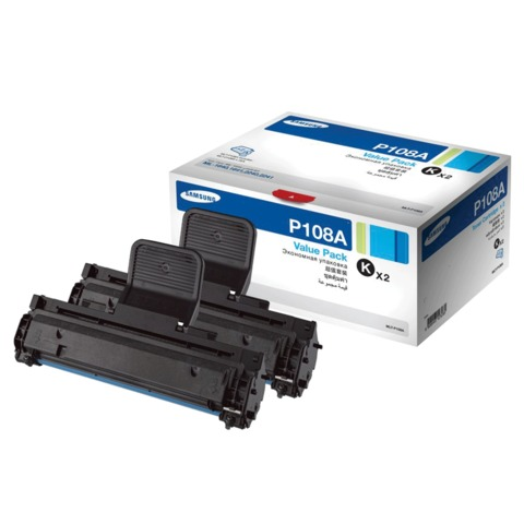 Картридж лазерный SAMSUNG (MLT-P108A) ML-1640/<wbr/>2240, оригинальный, комплект 2 шт., ресурс 2×3000 стр.
