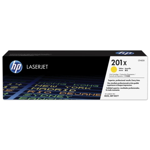 Картридж лазерный HP (CF402X) LaserJet Pro M277n/<wbr/>dw/<wbr/>M252n/<wbr/>dw, желтый, оригинальный, ресурс 2300 стр.