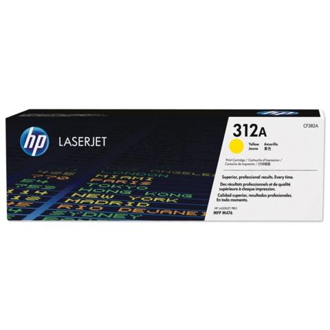 Картридж лазерный HP (CF382A) LaserJet Pro M476dn/476dw/476nw, желтый, оригинальный, ресурс 2700 стр.