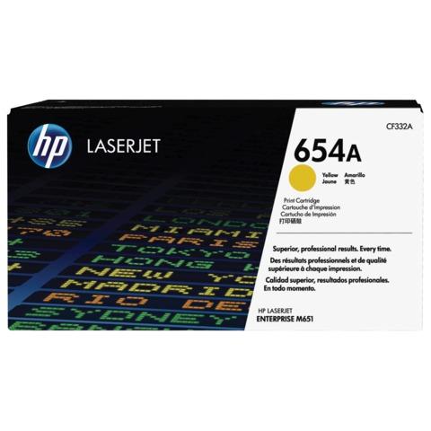 Картридж лазерный HP (CF332A) LaserJet Pro M651n/<wbr/>M651dn/<wbr/>M651xh, желтый, оригинальный, ресурс 15000 стр.