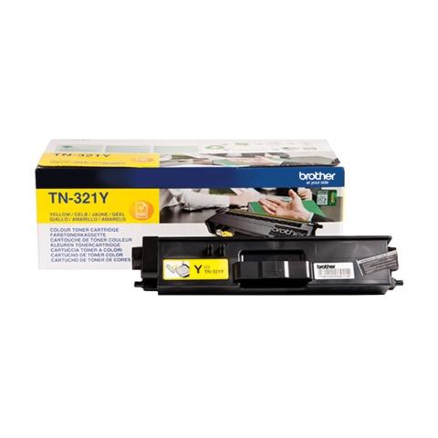 Картридж лазерный BROTHER (TN321Y) HL-L8250CDN/MFC-L8650CDW, желтый, оригинальный, ресурс 1500 стр.
