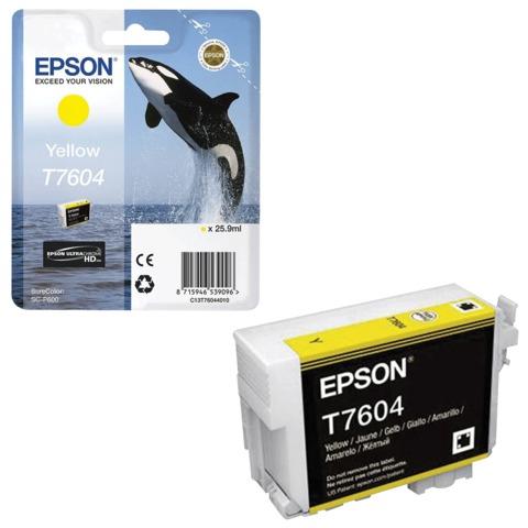 Картридж струйный EPSON (C13T76044010) Epson SC-P600, желтый, оригинальный