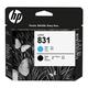 Головка печатающая для плоттера HP (CZ677A) HP Latex 310/<wbr/>330/<wbr/>360/<wbr/>370, №831, черный и голубой, оригинальная