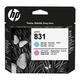 Головка печатающая для плоттера HP(CZ679A)HP Latex 310/<wbr/>330/<wbr/>360/<wbr/>370 №831, цвет чернил светло-пурпурный/<wbr/>светло-голубой, оригинальная