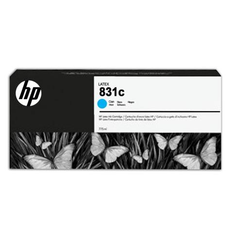 Картридж струйный для плоттера HP (CZ695A) HP Latex 310/<wbr/>330/<wbr/>360/<wbr/>370, №831c, голубой, 775 мл, оригинальный