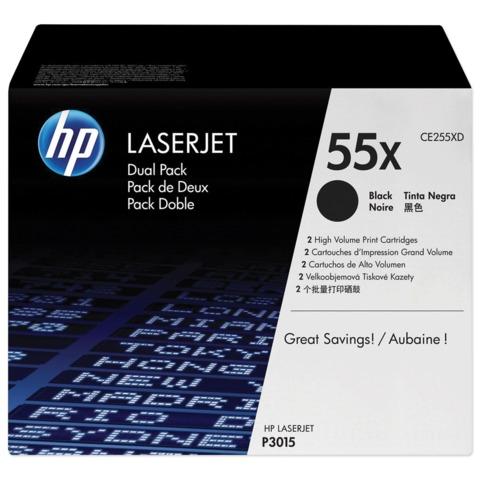 Картридж лазерный HP (CE255XD) LaserJet M525dn/M521dn/P3015 и другие, комплект 2 шт., оригинальный, ресурс 2х13500 стр.
