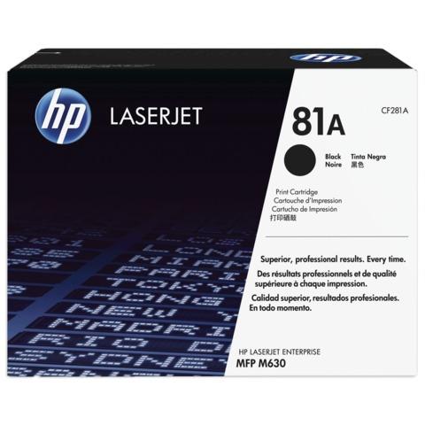 Картридж лазерный HP (CF281A) LaserJet M604n/<wbr/>M604dn/<wbr/>M605/<wbr/>M606/<wbr/>M630 и другие, №81A, оригинальный, ресурс 10500 страниц