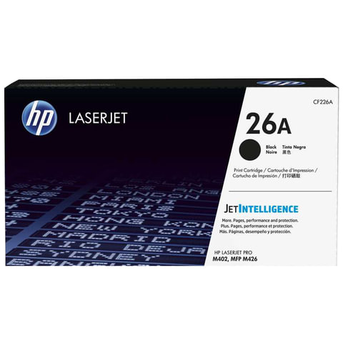 Картридж лазерный HP (CF226A) LaserJet Pro M402d/n/dn/dw/426dw/fdw/fdn, №26A, оригинальный, ресурс 3100 стр.