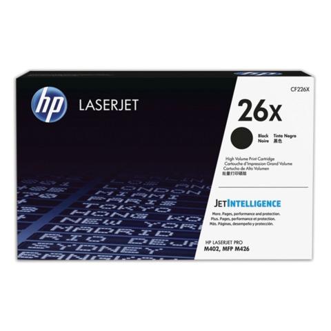 Картридж лазерный HP (CF226X) LaserJet Pro M402d/n/dn/dw/426dw/fdw/fdn, №26X, оригинальный, увеличенный ресурс 9000 стр.
