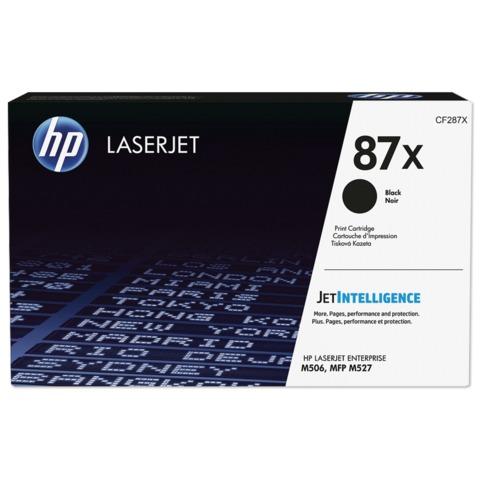 Картридж лазерный HP (CF287X) LaserJet M506dn/<wbr/>M506x/<wbr/>M527dn/<wbr/>M527f/<wbr/>M527c, №87X, оригинальный, ресурс 18000 страниц