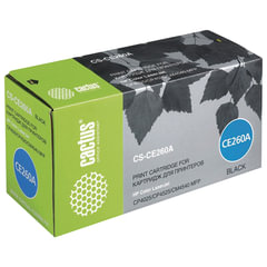 Картридж лазерный CACTUS (CS-CE260A) для HP ColorLaserJet CP4025/<wbr/>4525, черный, ресурс 8500 стр.
