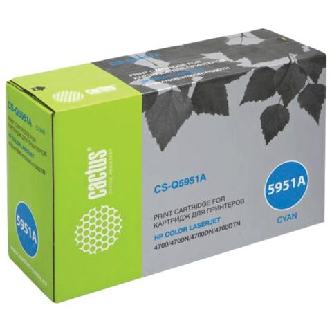 Картридж лазерный HP (Q5951A) Color Laser Jet 4700, голубой, ресурс 10000 стр., CACTUS совместимый