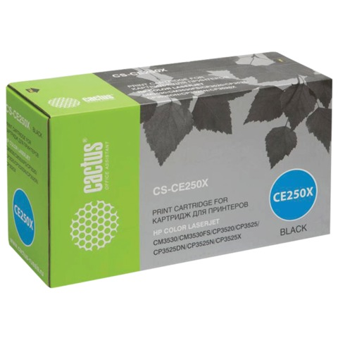 Картридж лазерный HP (CE250X) CLJ CP3525/<wbr/>CM3530, черный, ресурс 10500 стр., CACTUS совместимый