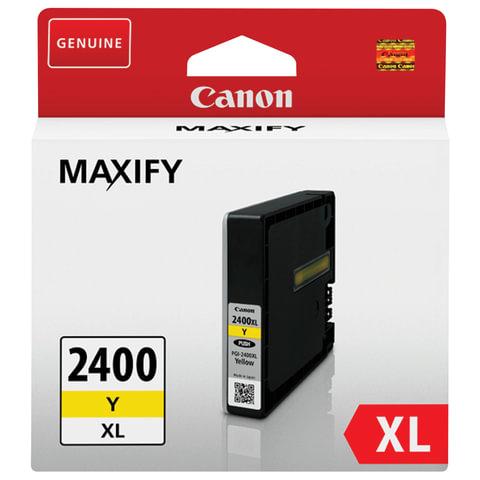 Картридж струйный CANON (PGI-2400XLY) iB4040/<wbr/>MB5040/<wbr/>MB5340, желтый, оригинальный, ресурс 1500 стр.