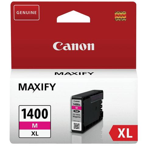 Картридж струйный CANON (PGI-1400XLМ) МВ2040/<wbr/>МВ2340, пурпурный, оригинальный, ресурс 900 стр.
