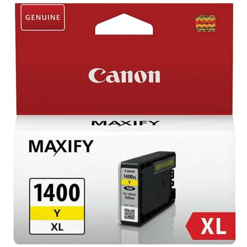 Картридж струйный CANON (PGI-1400XLY) МВ2040/<wbr/>МВ2340, желтый, оригинальный, ресурс 900 стр.