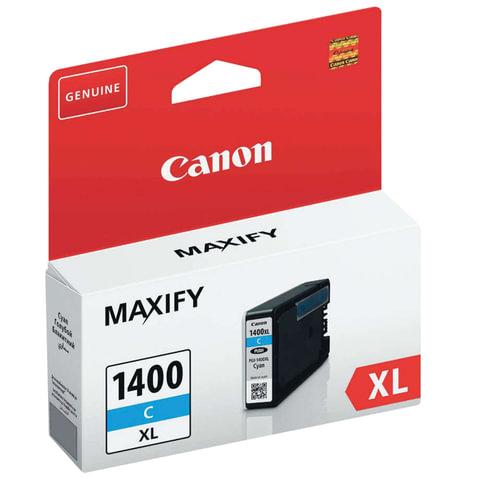 Картридж струйный CANON (PGI-1400XLС) МВ2040/МВ2340, голубой, оригинальный, ресурс 900 стр.