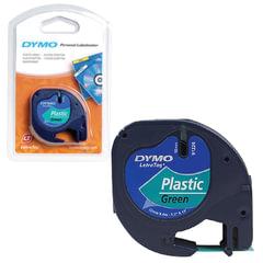 Картридж для принтеров этикеток DYMO LetraTag, 12 мм х 4 м, лента пластиковая, зеленая