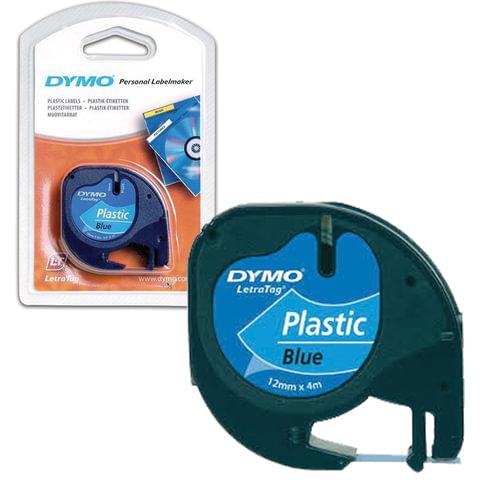 Картридж для принтеров этикеток DYMO LetraTag, 12 мм х 4 м, лента пластиковая, синяя